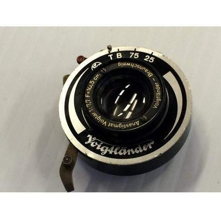 Working Voigtlander Anastigmat Voigtar 10.5cm f 1:7,7 View Camera Lens and Shutter