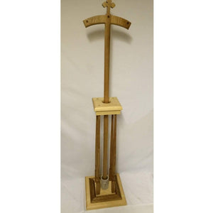 Traditional Orthodox Bishop's Crosier Solid Oak wood with cross and holder