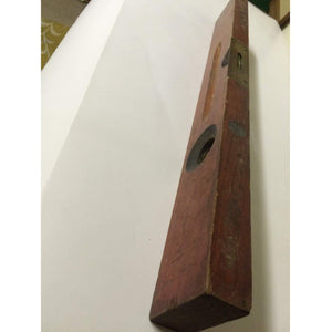 "STANLEY Level Plumb Rosewood Wood Rule VTG 24"" TOOL No. 0"