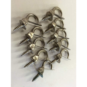 "10 pcs Vintage Hardware Safety Cup Hooks 7/8"" jewelery hooks key - Annzstiques"