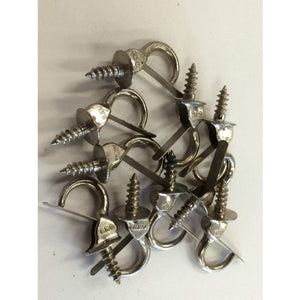 "100 pcs Vintage Hardware Safety Cup Hooks 7/8"" jewelery hooks - Annzstiques"