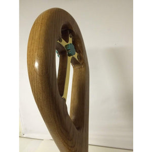 The Clarkson A two piece Crozier Solid OAK Brass touch of turquoise