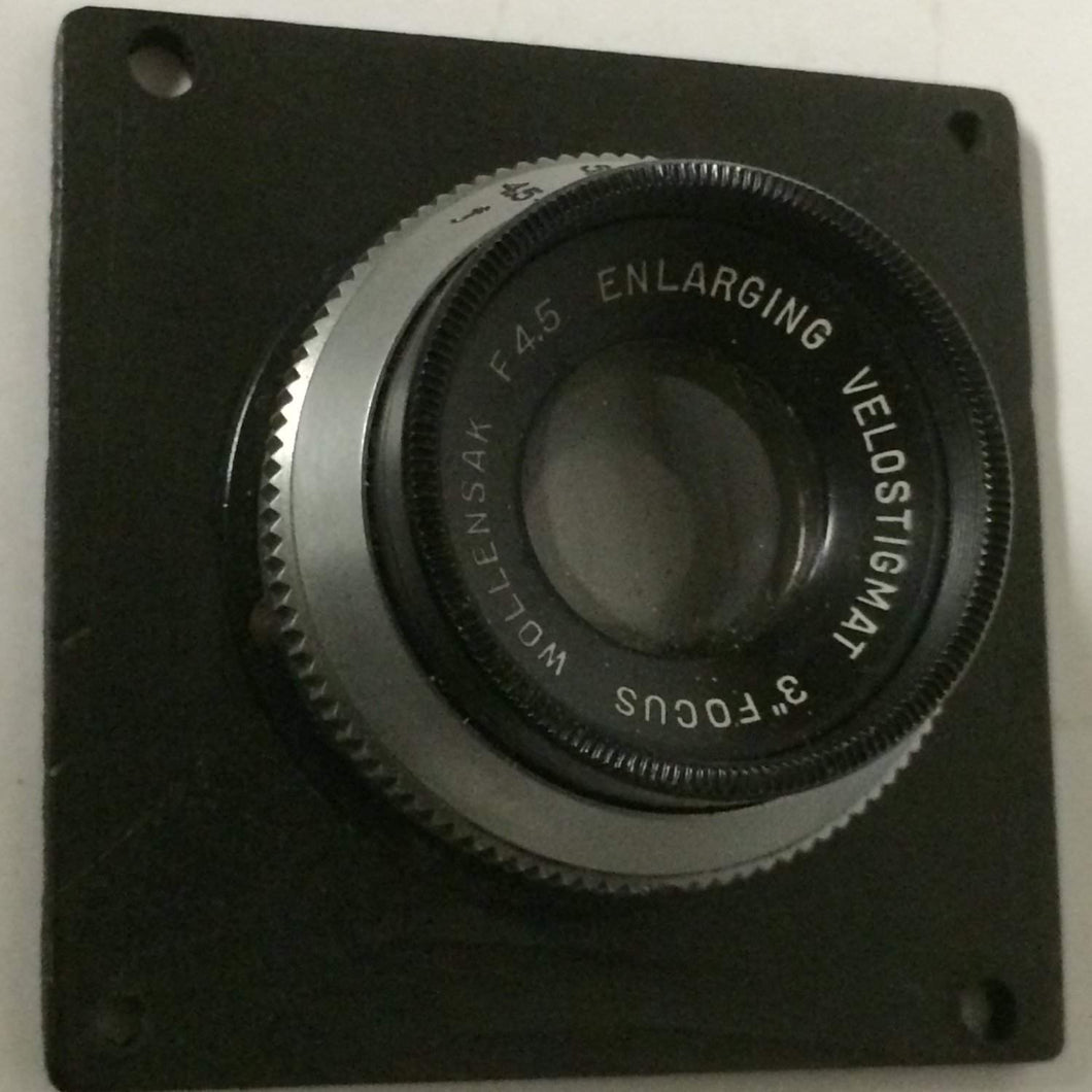Vintage Wollensak f4.5 Enlarging Raptar Lens in board 3
