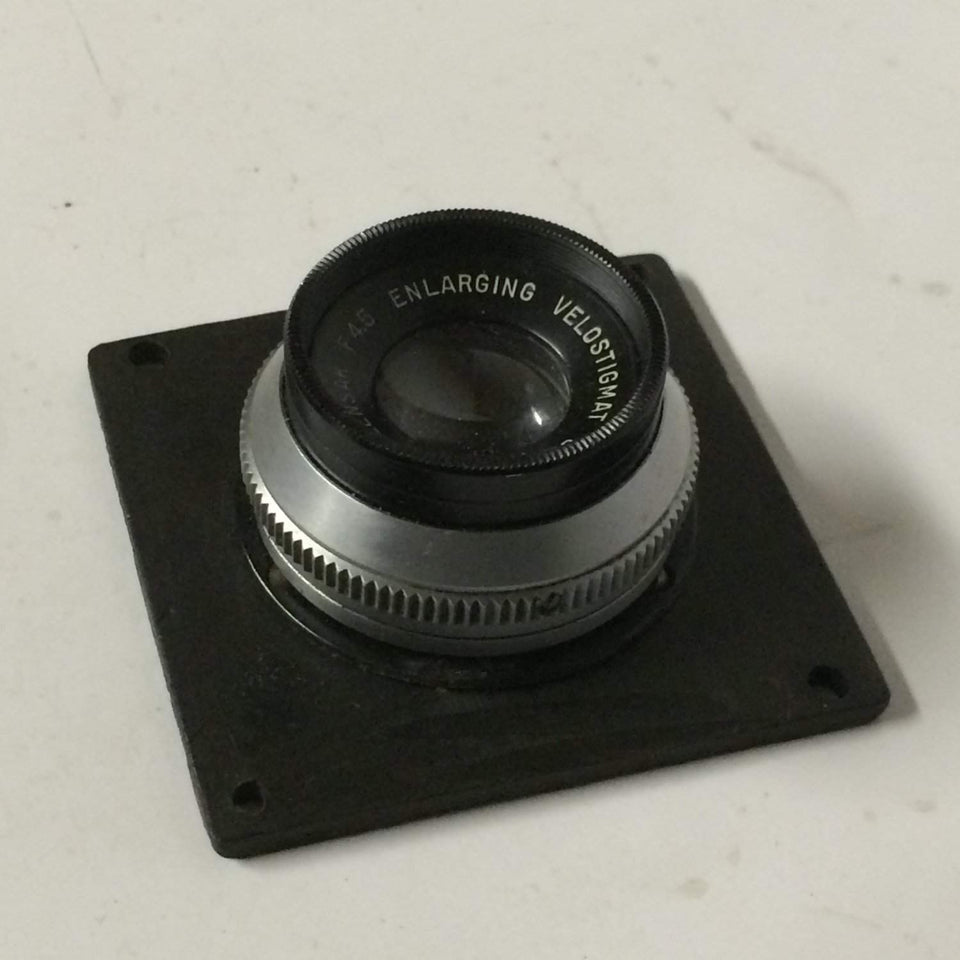 "Vintage Wollensak f4.5 Enlarging Raptar Lens in board 3"" focus"