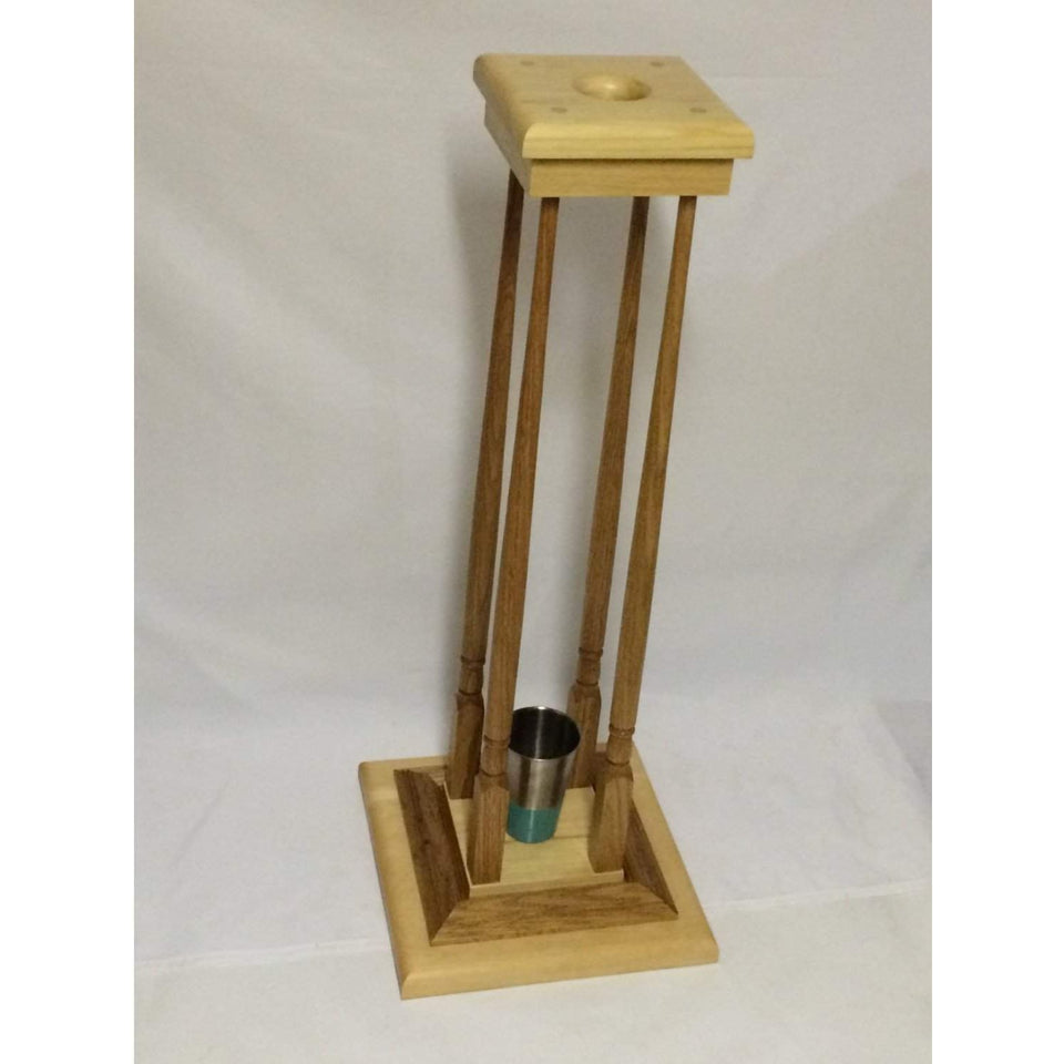 Custom Bishops Stand Solid Pine and oak, For any Crosier turquoise bottom holder - Annzstiques