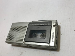 Panasonic Microcassette Handheld 2 Speed Voice Activated Recorder RN-109 with tapes.