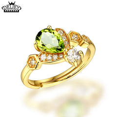 August Peridot Ring For Women 925 Sterling Silver