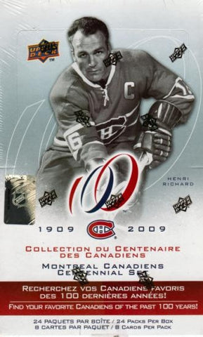 2008-09 UD Montreal Canadiens Centennial Hockey Hobby Box