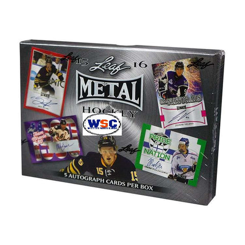 2015-16 Leaf Metal Hockey Hobby Box
