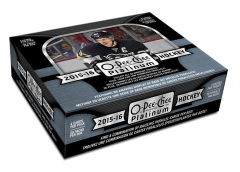 2015-16 OPC Platinum Hobby Hockey Box