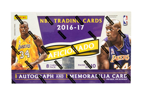 2016-17 Panini Aficionado Basketball Hobby Box + Bonus 2 Panini Day Packs