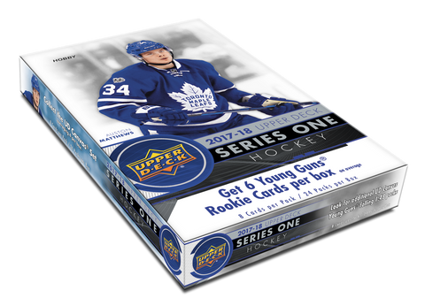 2017-18 Upper Deck Series 1 Hockey Hobby Box 1 Free Overtime Pack per Box