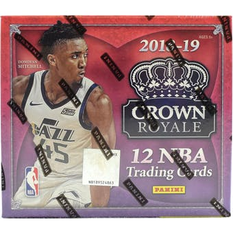2018-19 Panini Crown Royale Basketball Hobby Box