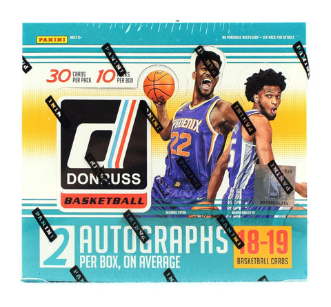 2018-19 Panini Donruss Basketball Hobby Jumbo Box