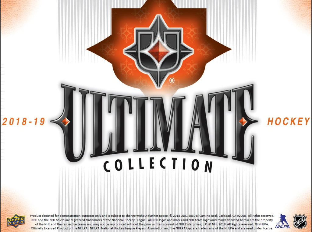 2018-19 UD Ultimate Collection Hockey Hobby Box