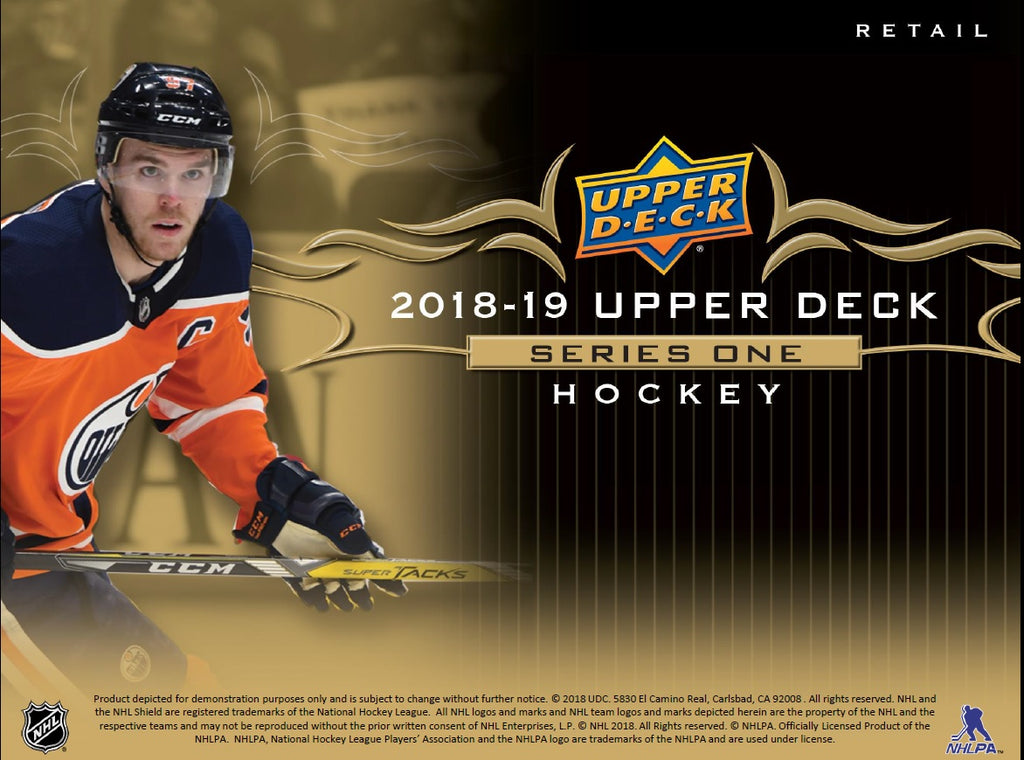 2018-19 Upper Deck Series 1 Hockey Starter Kit Binder