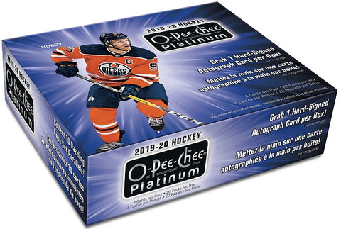 2019-20 OPC Platinum Hockey Hobby Box