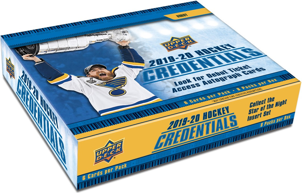 2019-20 Upper Deck Credentials Hockey Hobby Box