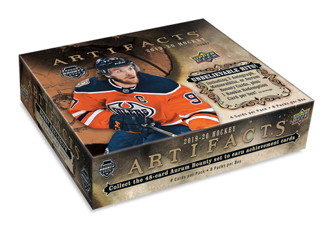 2019-20 Upper Deck Artifacts Hockey Hobby Box- 1 Overtime Pack/Box