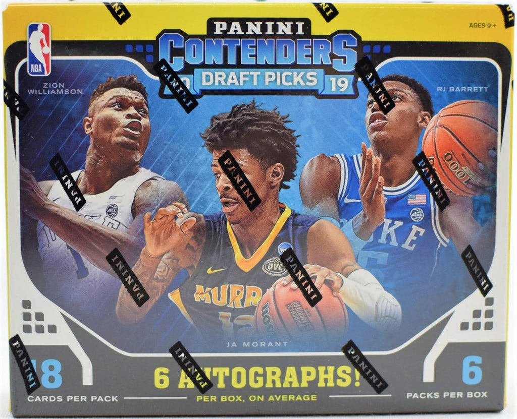 2019-20 Panini Contenders Draft Basketball Hobby Box- Zion RC