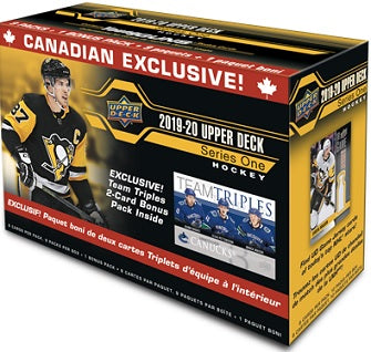 2019-20 Upper Deck Series 1 Hockey Team Triple Blaster Box