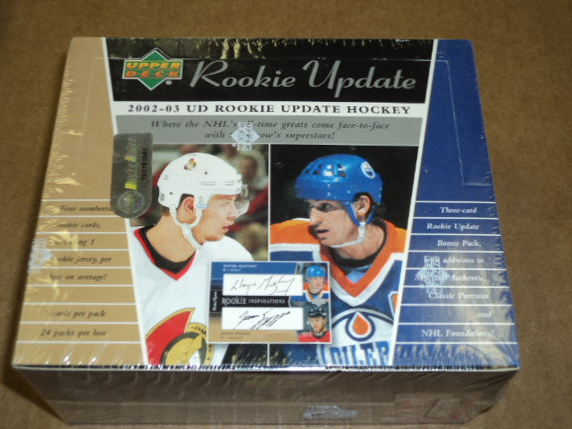 2002-03 Upper Deck Rookie Update Hobby