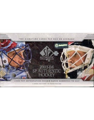 2003-04 SP Authentic Hockey Hobby Box