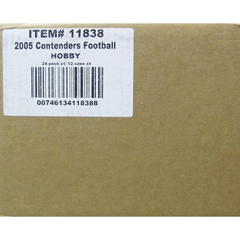 2005 Playoff Contenders Football Factory Sealed Hobby Case