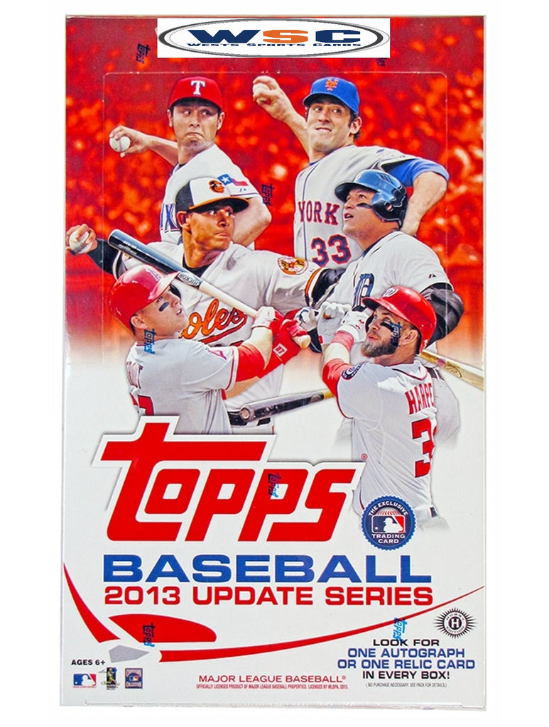 2013 Topps Update Series Baseball Hobby Box
