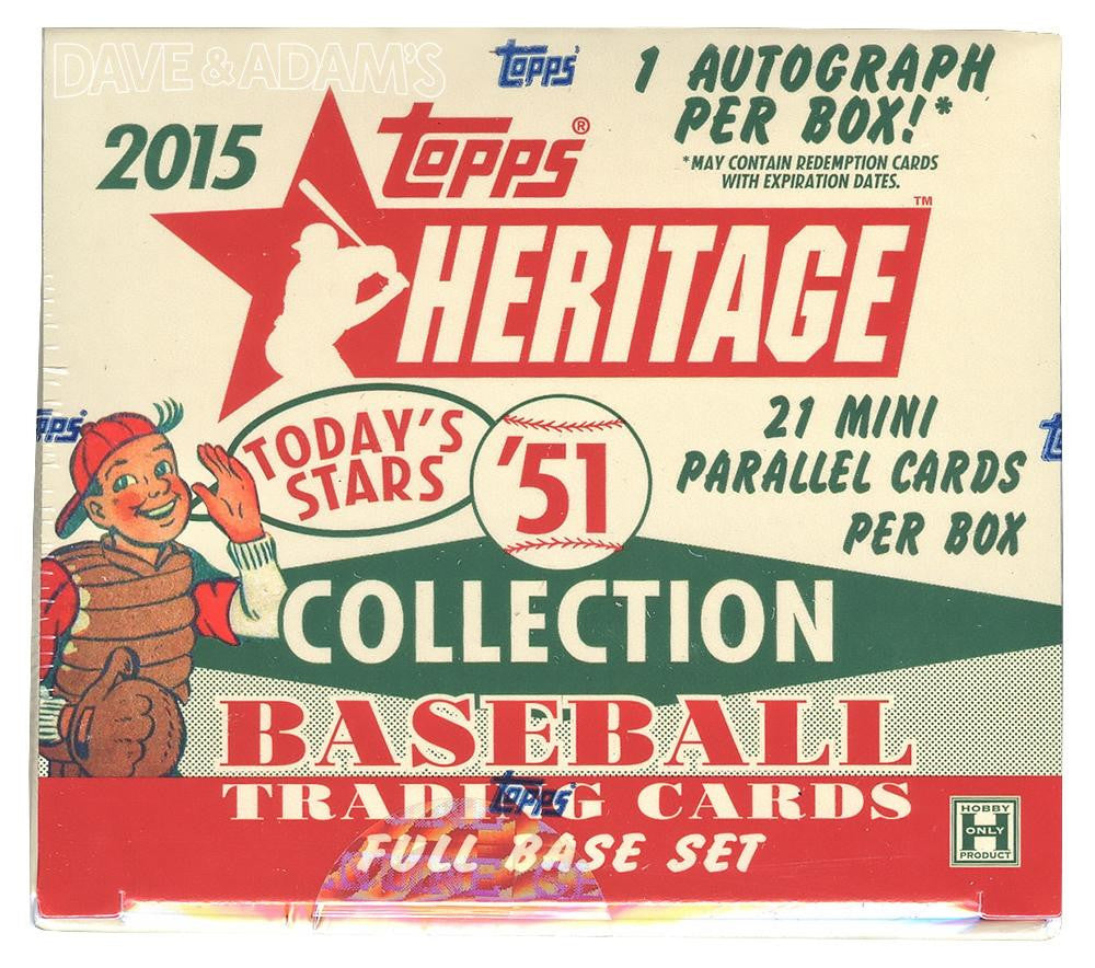 2015 Topps Heritage 51 Collection Baseball Hobby Box (set)