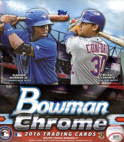 2016 Bowman Chrome Hobby Baseball Box