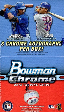 2016 Bowman Chrome Baseball Vending (Jumbo) Box