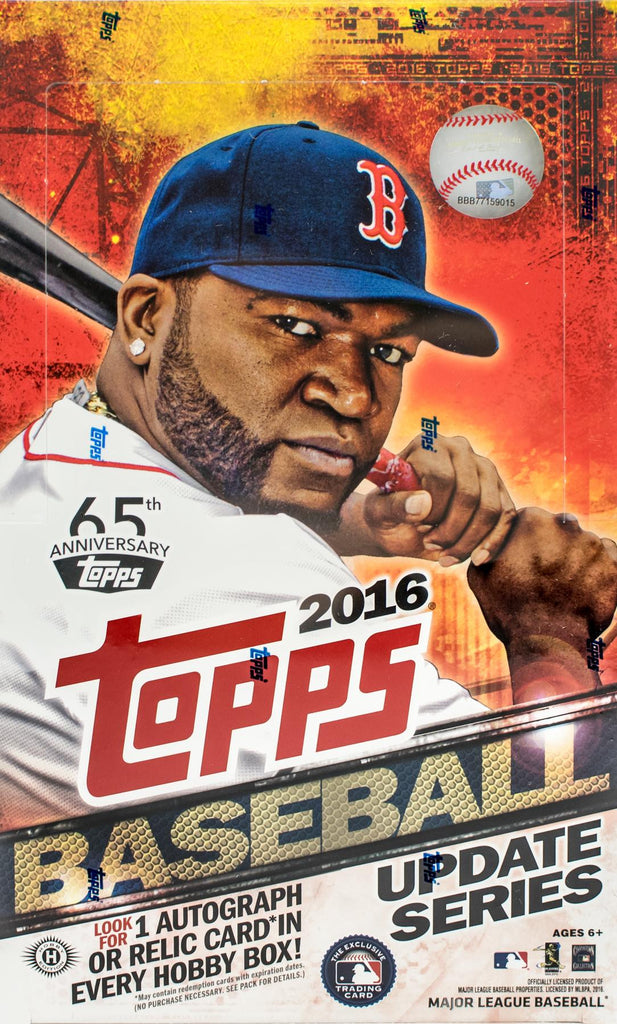 2016 Topps Update Series Hobby Baseball Box
