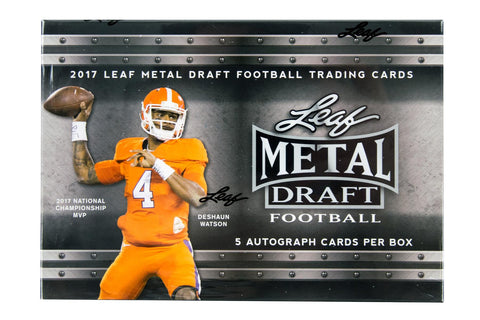 2017 Leaf Metal Draft Football Hobby Box