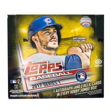 2017 Topps Series 1 Hobby Jumbo Baseball Box - PLUS BONUS 2 SILVER PACKS