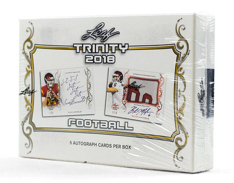 2018 Leaf Trinity Football Hobby Box