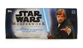 Group Break#961- 3 Box NON-SPORT STAR WARS BREAK MASTERWORKS++ DOUBLE UP ALPHABETICAL LAST NAME
