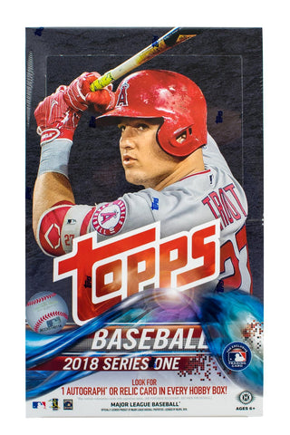 2018 Topps Series 1 Hobby Baseball Box (PLUS 1 Bonus Silver Pack)