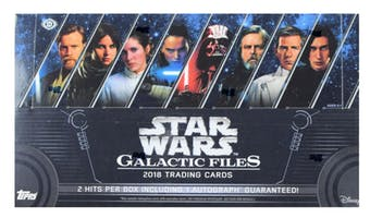 2018 Topps Star Wars Galactic Files Hobby Box