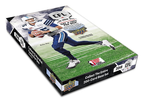 2018 Upper Deck CFL Football Hobby Box (Canadian Exclusive Product)