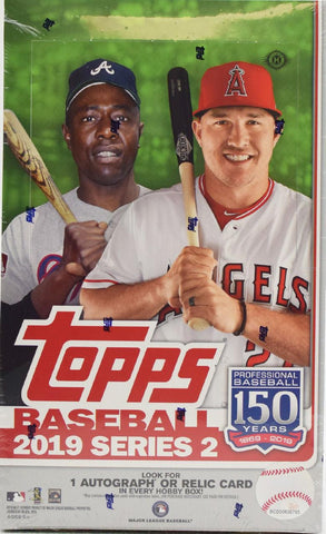 2019 Topps Series 2 Baseball Hobby Box (1 Bonus Silver Pack/Box)