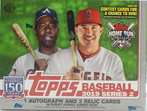 2019 Topps Series 2 Baseball Hobby Jumbo Box (2 Bonus Silver packs/Box)