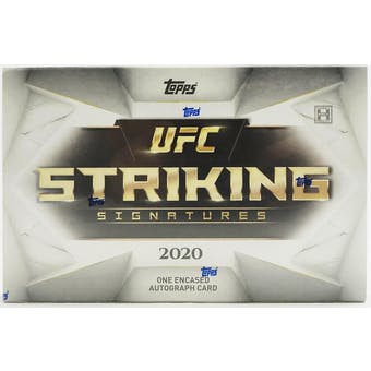 2020 Topps UFC Striking Signatures Hobby Box