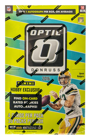 2016 Donruss Optic Football Hobby Box
