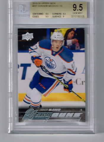 Group Break #4 Connor McDavid Giveaway 15-16 UD YOUNG GUNS ROOKIE CARD BGS 9.5