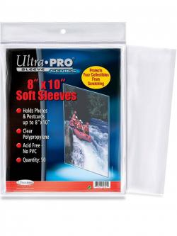 Ultra Pro 8x10 Soft Sleeves 100ct/pack