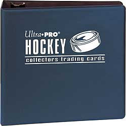 ultra pro 3in blue hockey binder wests sports cards