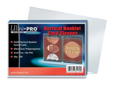 Ultra Pro Booklet Vertical Card Sleeves 100ct/pack
