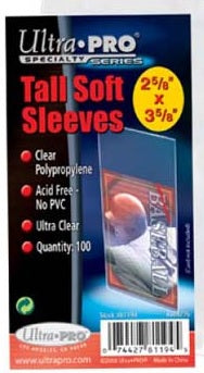 Ultra Pro Tall Soft Sleeves 100ct/pack