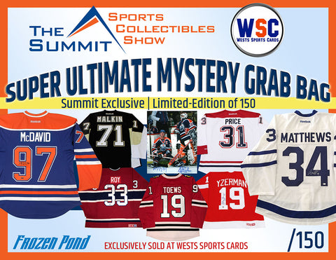 Group Break#833- 1 FROZEN POND/SUMMIT/WSC EXCLUSIVE MYSTERY BOX /150 TEAM RANDOM TRIPLE UP $35/Spot
